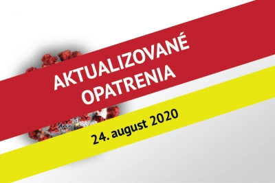 Updated EU rector's measures in Bratislava No. 11 on the current situation - 20 August 2020