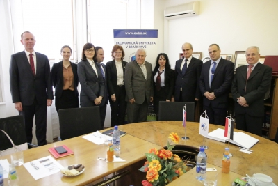 Delegation from Tishreen University in Syria at the UEBA