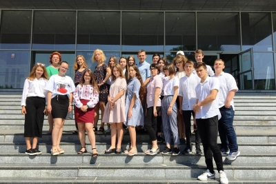 Delegation of Secondary School Students from Kharkov at EUBA