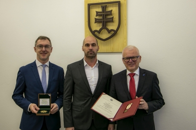 The Director of the Department of Police Cynology and Hippology awarded the EU in Bratislava for its long-term cooperation