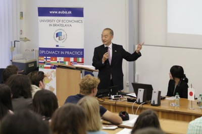 Univerzitné udalosti » Japanese Ambassador launched the new Diplomacy in Practice lecture series